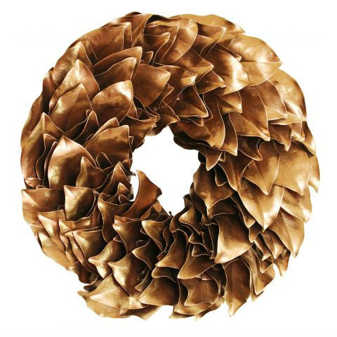 Gold Lacquer Wreath 18""