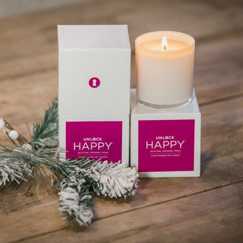 Happy Boxed Candle