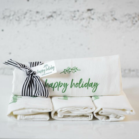 Holiday Flour Sack Towel