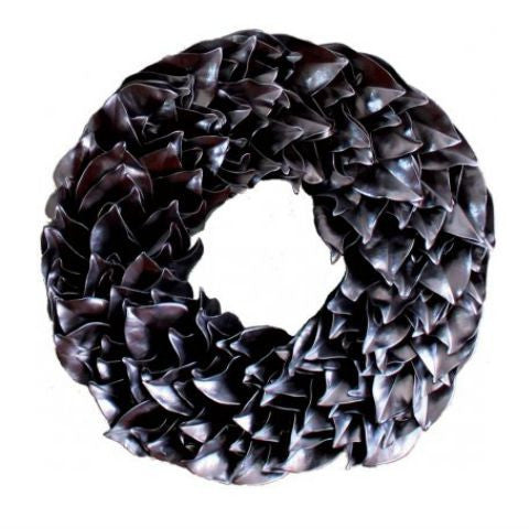 Gunmetal Lacquer Wreath 18""