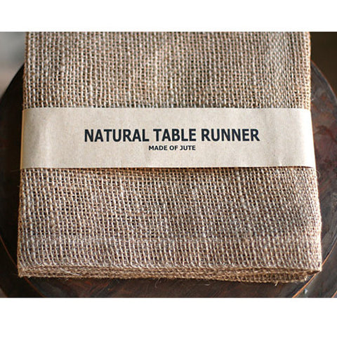 "Jute Table Runner - 14"" X 72"""