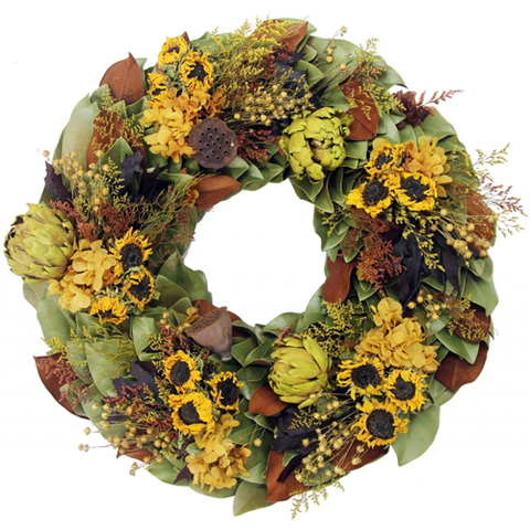 Golden Sunflowers Wreath