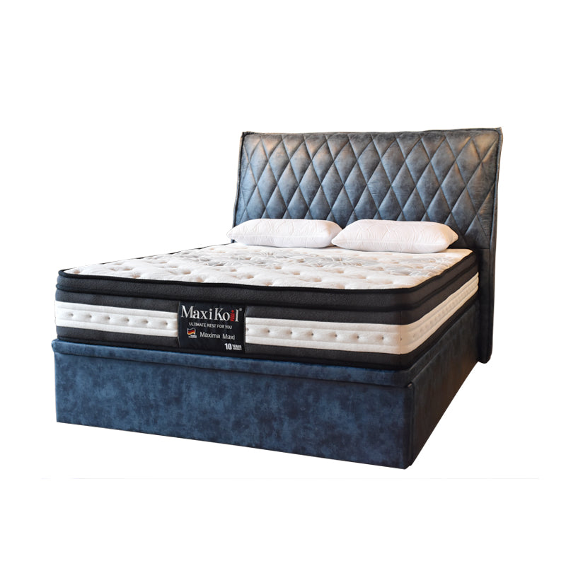 Drogo Queen Size Storage Bed Frame Bedroom Furniture Maxihome