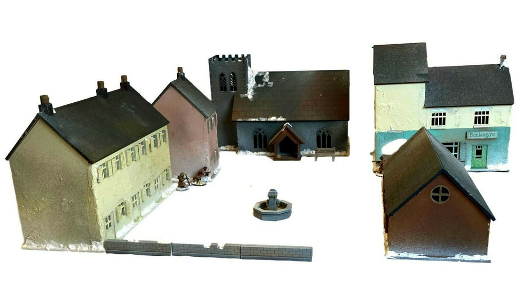 Bolt Action Terrain: Snowy Village