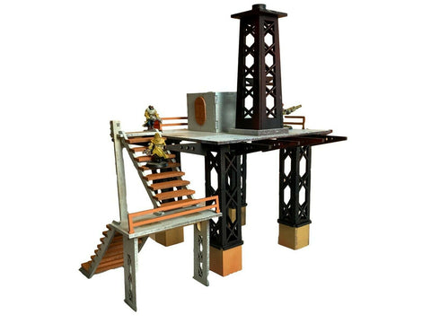 Oil Rig - Facility Set 'C' - 28mm MDF Scenery for Warhammer/Tabletop
