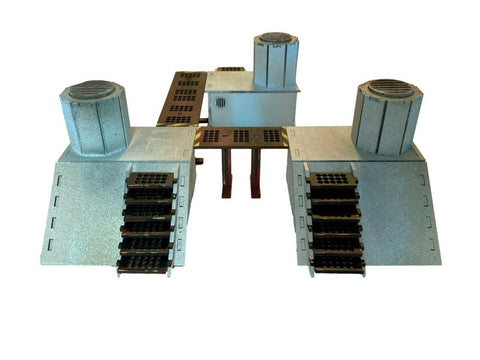 Cooling Vents - Facility Set 'B' - 28mm MDF Scenery Warhammer/Tabletop