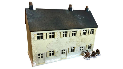 European Style Terraced House Set (2 Story) - WW2/tabletop scenery - 28mm Scale