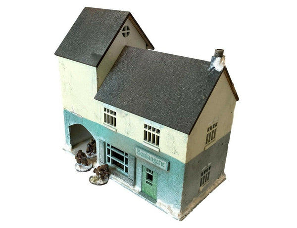 Boulangerie/Town House/Cafe Set (2 Story) - WW2/tabletop scenery - 28mm Scale