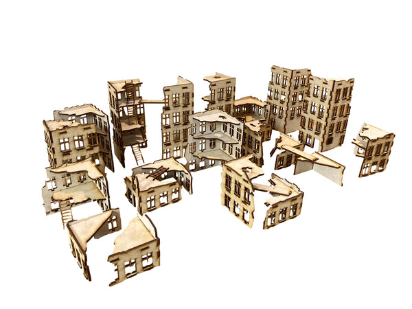 MDF Ruined City 1 (Big Bundle) 20 mm Scale Version