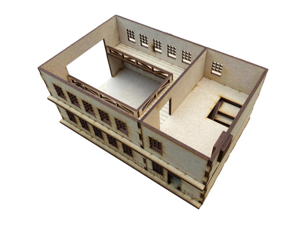 20mm Scale Large Factory/Commercial Building 'B' for WW2/Warhammer MDF kit