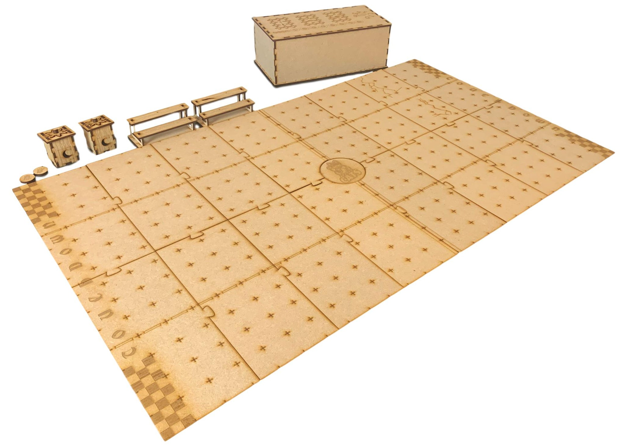 Blood Bowl / Fantasy Football Compatible Pitch Deluxe Board Set