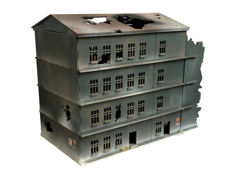 28mm Scale Pavlov Style House / Apartment Building for WW2/Warhammer in MDF