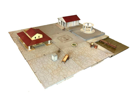 Ancient Roman Style Tabletop Modular Board with Buildings