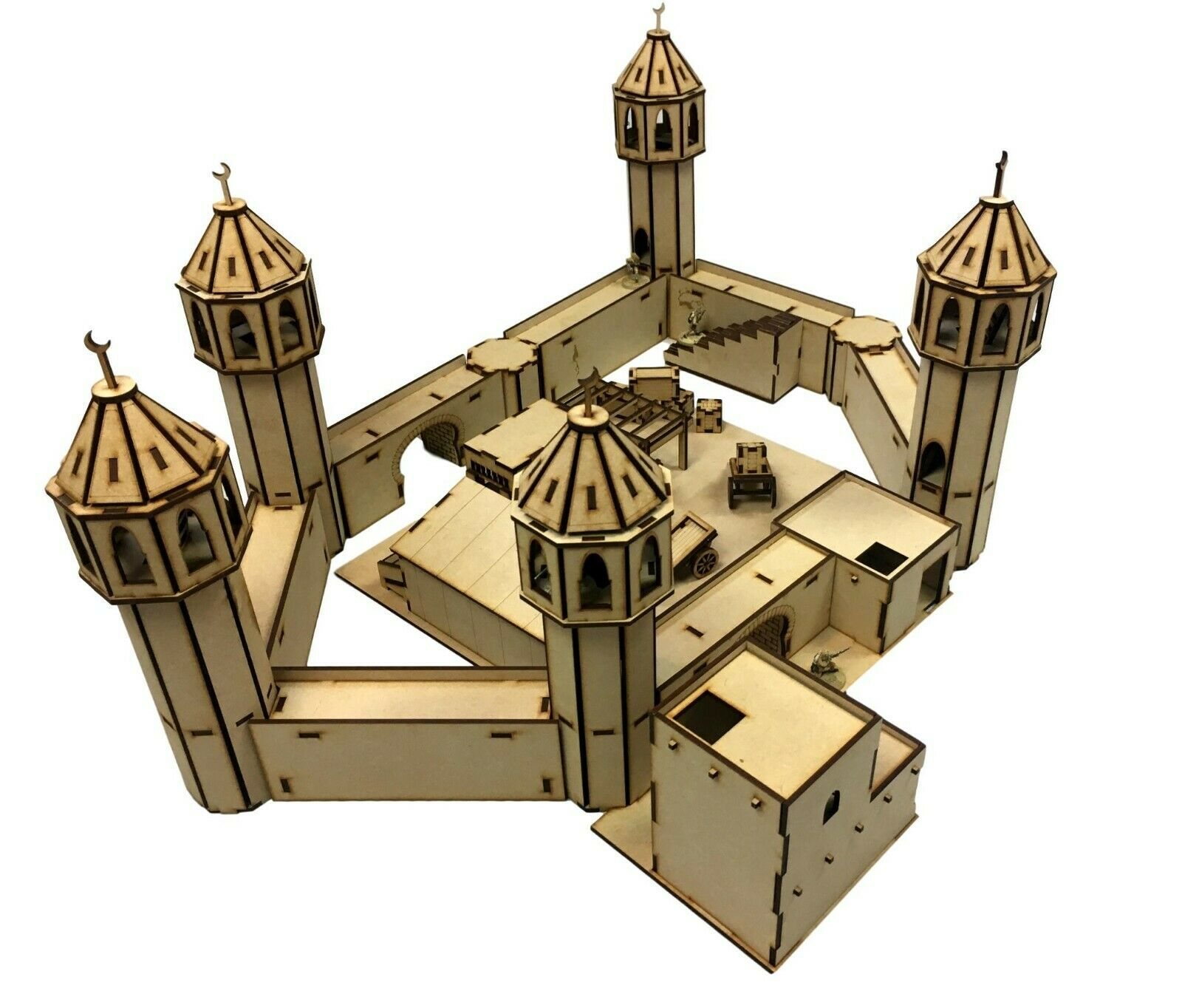 28mm Walled Bazaar/Souk Building Scenery MDF Bundle WW2/Warhammer/Infinity