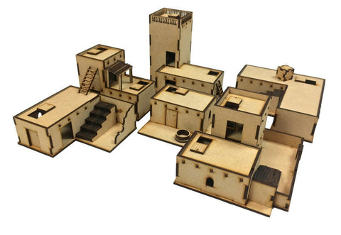 20MM scale Adobe Desert Building Big Bundle