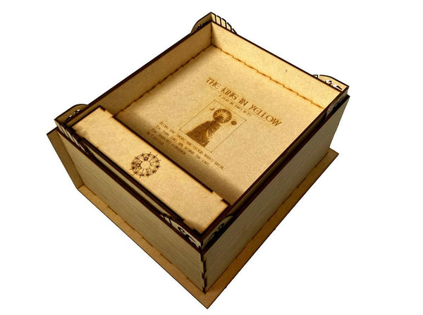 Arkham Horror LCG Wooden Storage Box – Large Yellow King