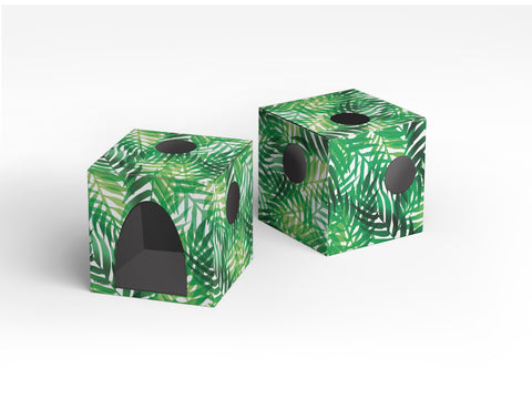 Kitty Jungle Cardboard Cat House with Scratcher