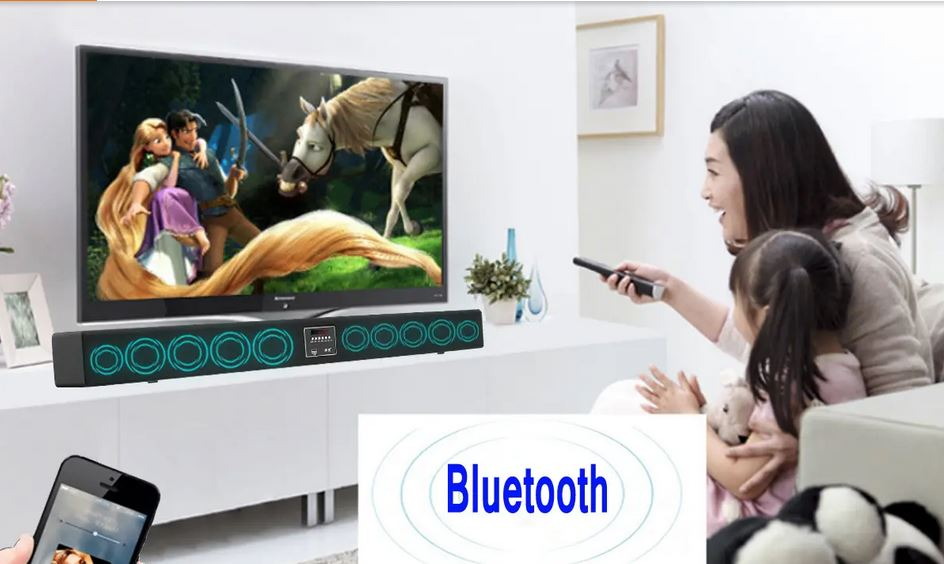 BigSound 30W bluetooth 4.0 10 Speaker 3D Sound Bar Home TV Echo-wall