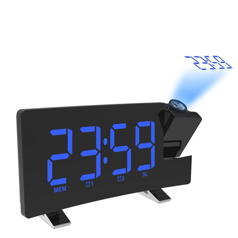 Wake-up Light Digital Projection Alarm Clock LED FM Snooze Sleep