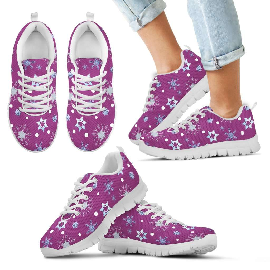 Frozen Snowing Kids Sneakers - STUDIO 11 COUTURE