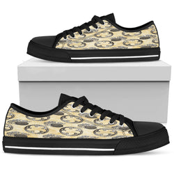 Old Television Steampunk Women Low Top Shoes