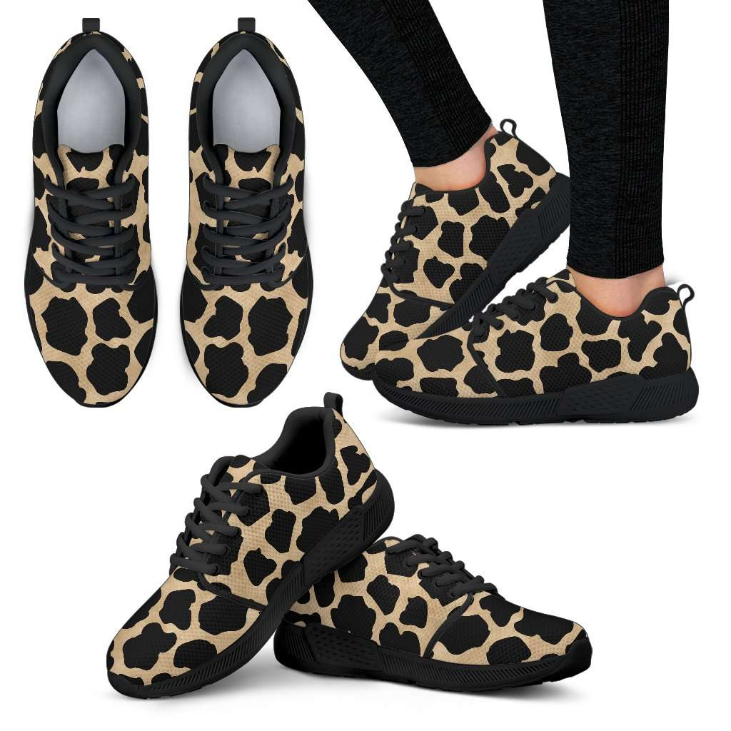 White Leopard Skin Womens Athletic Sneakers - STUDIO 11 COUTURE
