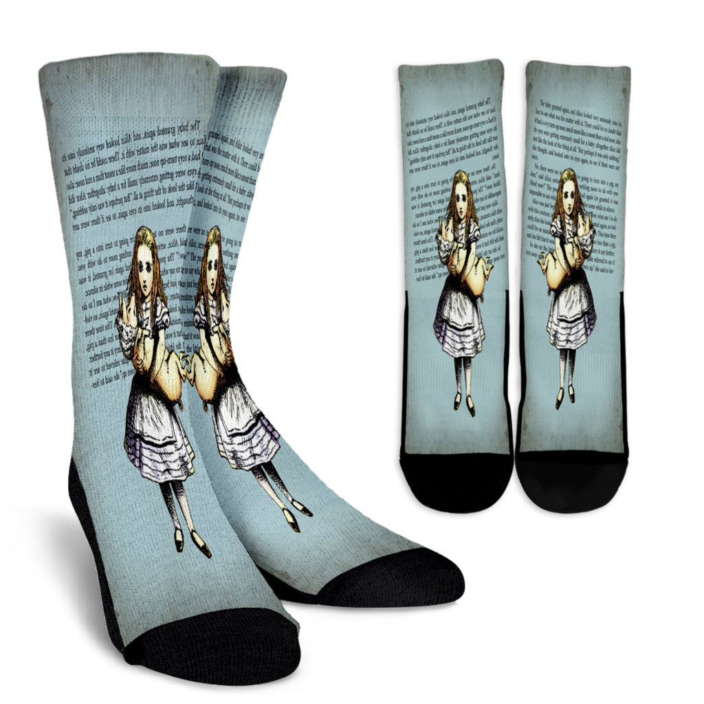 Alice And The Pig Crew Socks