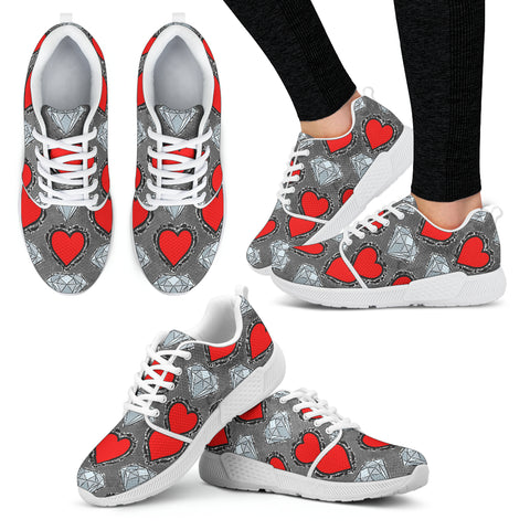 Hearts and Diamonds Women Athletic Sneakers
