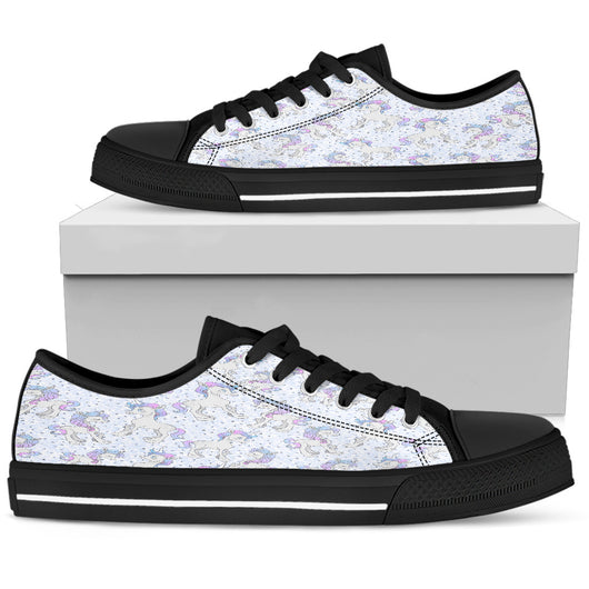Unicorn Pastel Womens Low Top Shoes - STUDIO 11 COUTURE