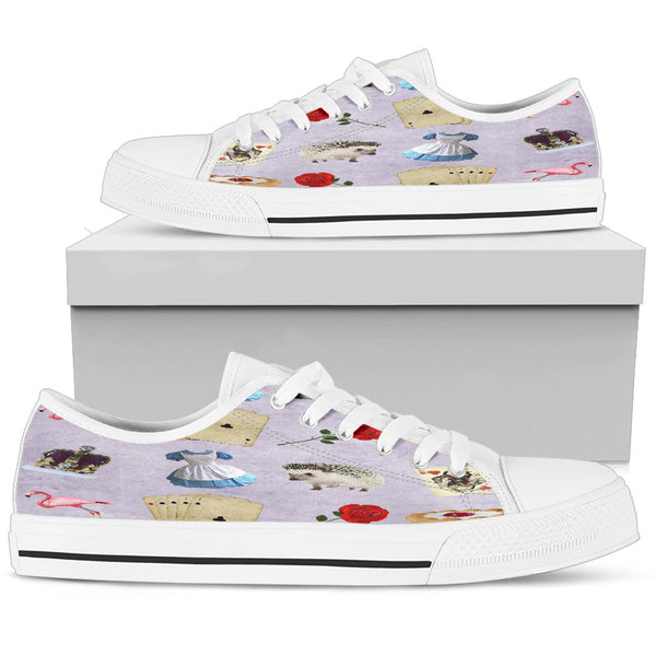 Alice In Wonderland Womens Low Top Shoes