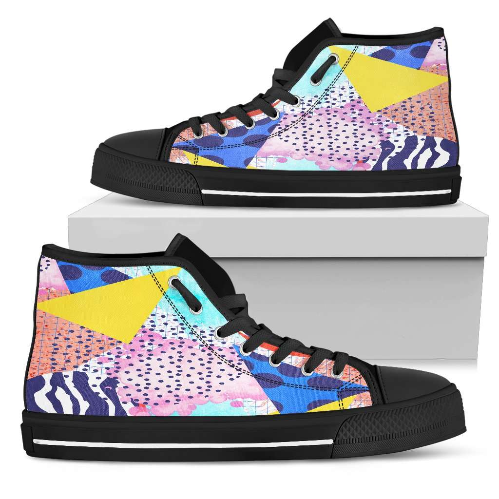 80's Fashion Trend Womens High Top Shoes - STUDIO 11 COUTURE