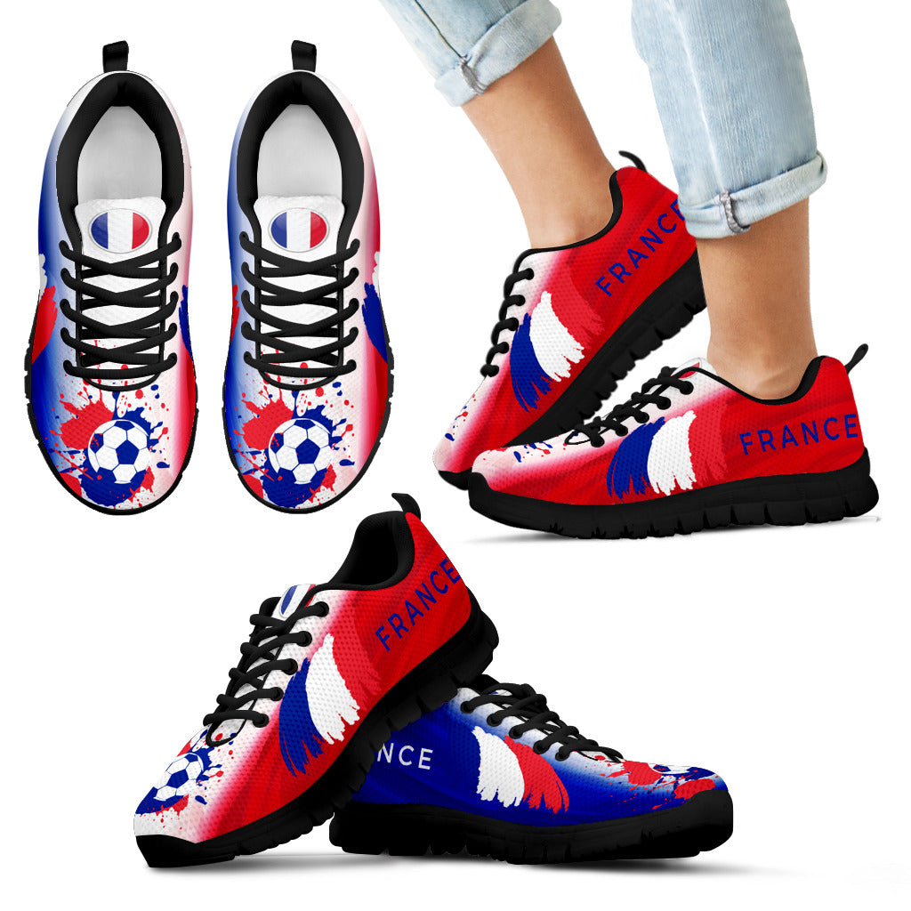 2018 FIFA World Cup France Kids Sneakers - STUDIO 11 COUTURE