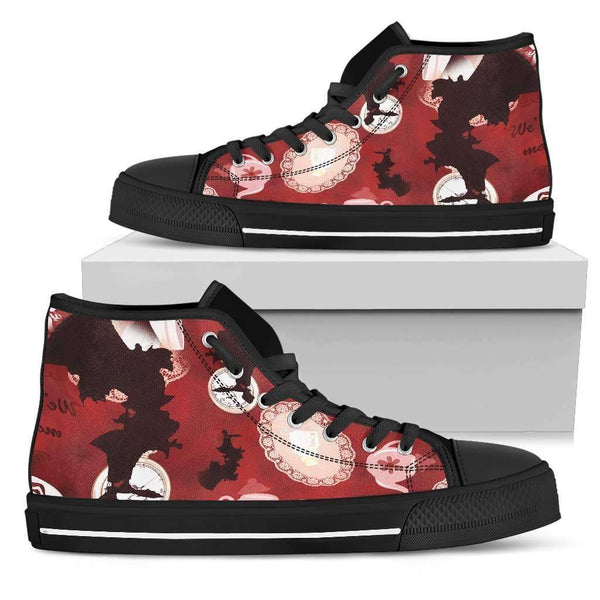 The Mad Hatter Womens High Top Shoes - STUDIO 11 COUTURE