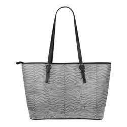 Animal Print BW Themed Design C3b Women Small Leather Tote Bag