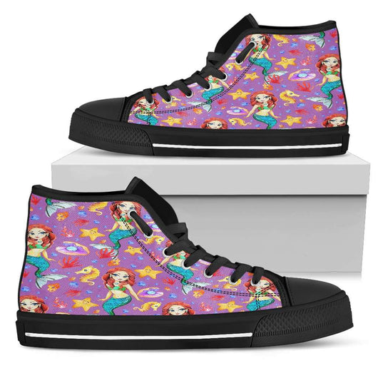 Mermaid Womens High Top Shoes - STUDIO 11 COUTURE