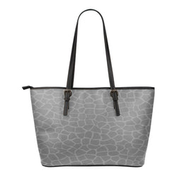 Animal Print BW Themed Design C4b Women Small Leather Tote Bag