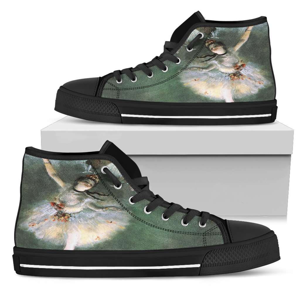 Edgar Degas Ballerina Womens High Top Shoes