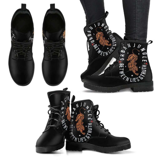 Tiger Womens Leather Boots - STUDIO 11 COUTURE