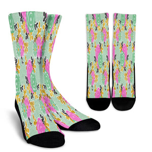 Gorgeous Floral Spring Crew Socks - STUDIO 11 COUTURE