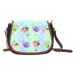 Ice Cream 4 Leather Saddle Bag