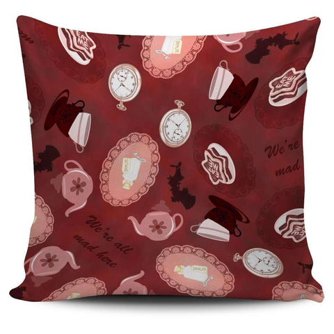 Alice in Wonderland Mad Hatter Pillow Case