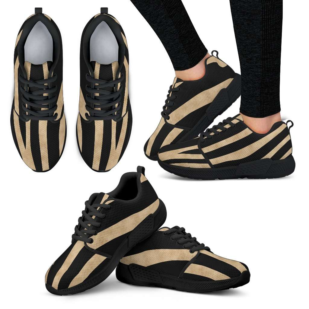 Zebra Skin Womens Athletic Sneakers - STUDIO 11 COUTURE