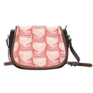 Alice In Wonderland Pancake Crossbody Shoulder Canvas Leather Saddle Bag