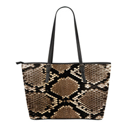 Animal Skin Texture Themed Design C9 Women Small Leather Tote Bag