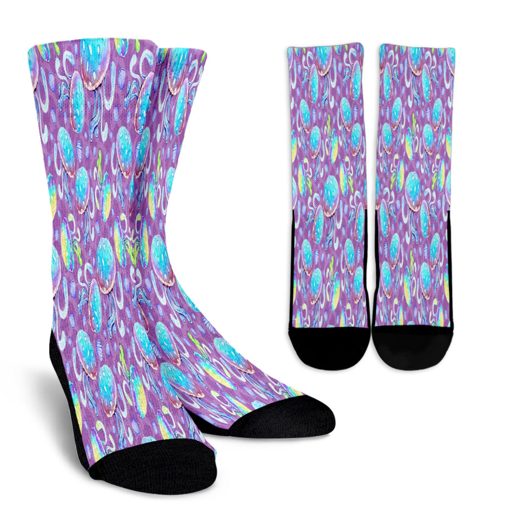Full Of Jellyfish Crew Socks - STUDIO 11 COUTURE