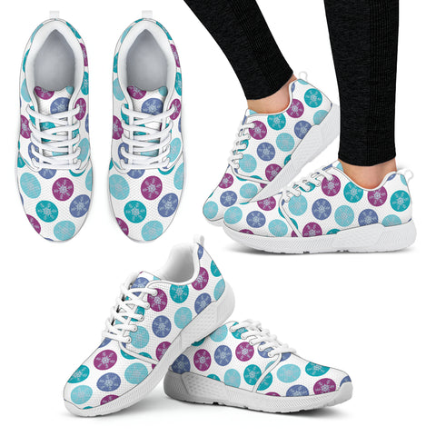 Frozen Snow Flakes Women Athletic Sneakers