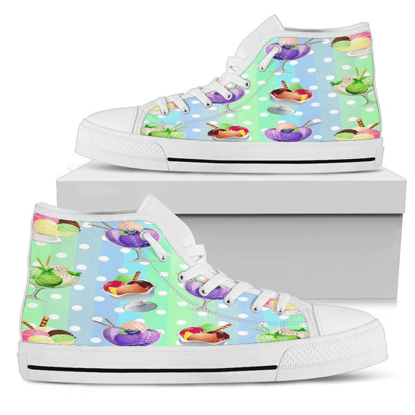 Ice Cream Womens High Top Shoes