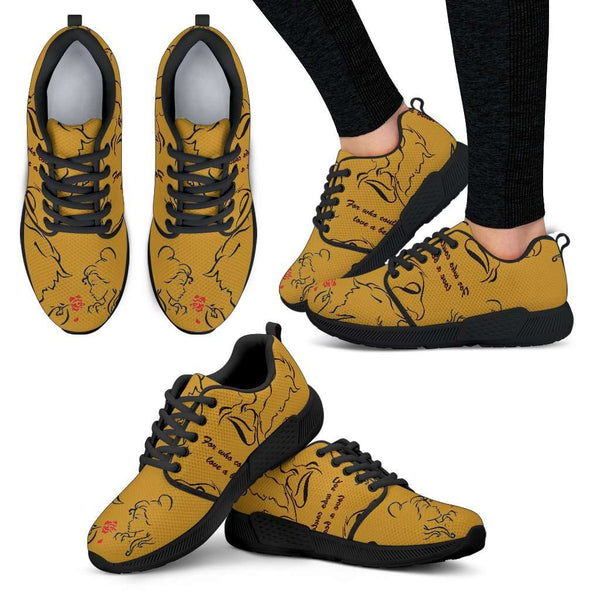 Beauty And The Beast Love Womens Athletic Sneakers - STUDIO 11 COUTURE
