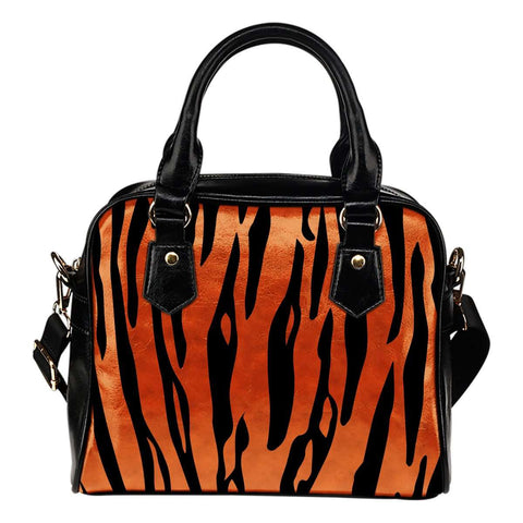 Animal Prints Tiger Stripes Shoulder Handbag