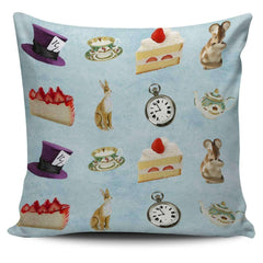 Alice in Wonderland and Mad Hatter Pillow Case